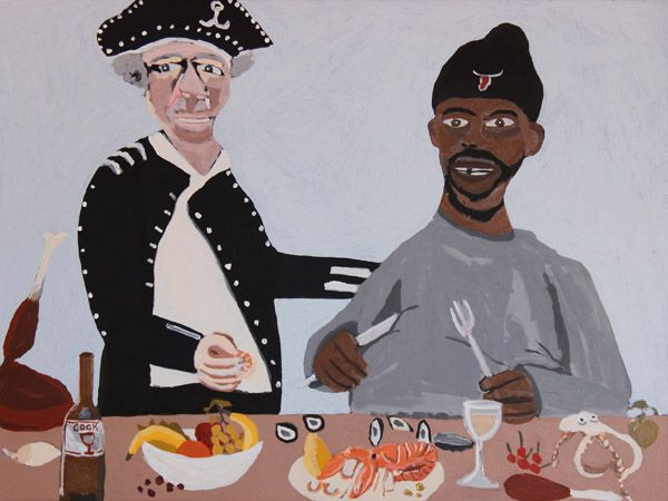 Vincent Namatjira | Cook's Dinner Party, 2015