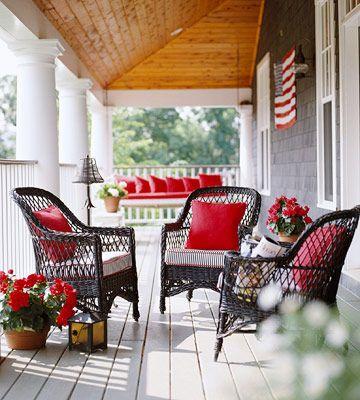 Porch design ideas porch front porches and cozy - Decoracion de porches ...
