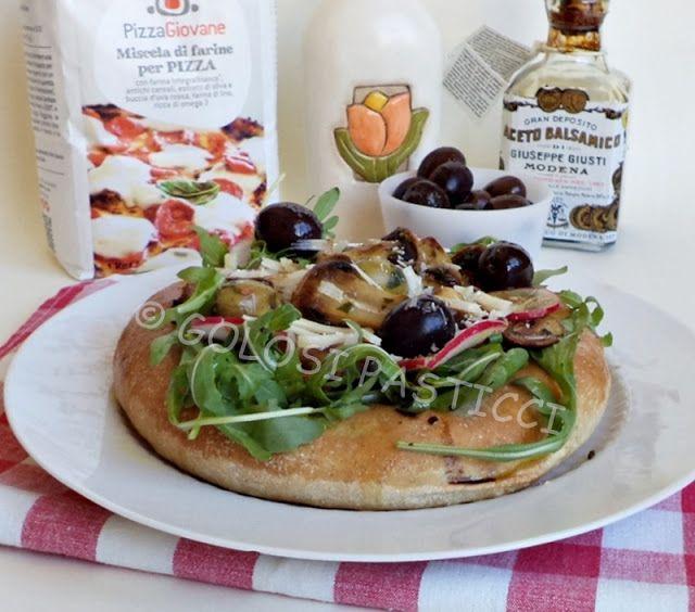 Golosi Pasticci: Pizza pane ai funghi e aceto balsamico