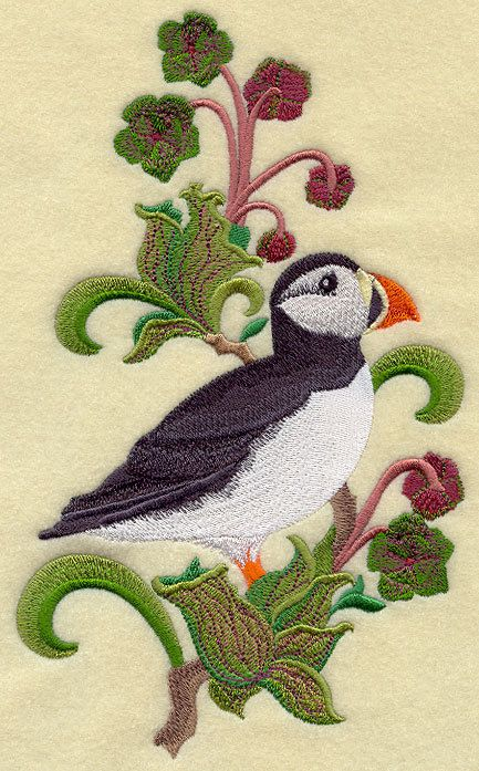 Embroidered Atlantic Puffin by EmbroideredbySue, $19.99