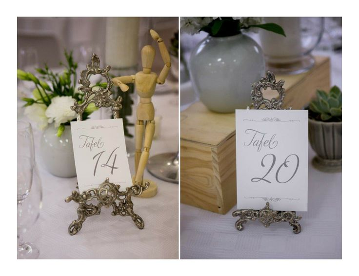 Wedding Table Numbers designed by Mercia M Designs