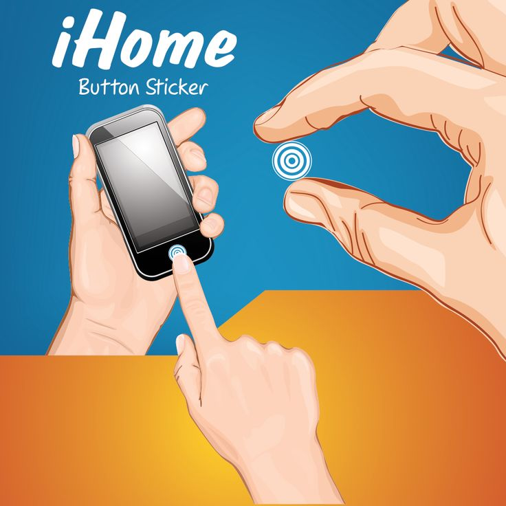 iHome button Sticker