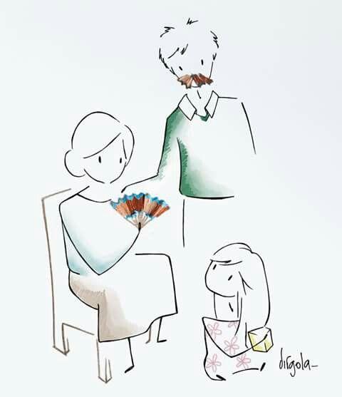 Nadie puede hacer por los niños pequeños lo que hacen los abuelos. Los abuelos esparcen polvo de estrellas sobre la vida de los niños. Alex Haley. Tomada de la página de Virgola en Facebook