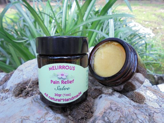 Pain Relief  Salve Beeswax SalveOrganic by MelirrousBees on Etsy