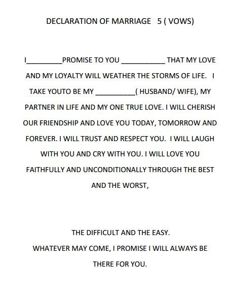 Dreams Riveria Cancun Declaration of Marriage script                                                                                                                                                      More