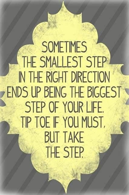 ..the smallest step...