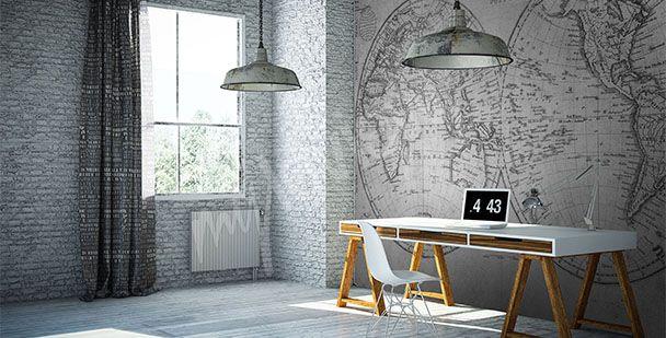 Papier Peint Bureau Papiers Peints Bureau Mur Aux Dimensions Myloviewfr Home Decor Decor Home