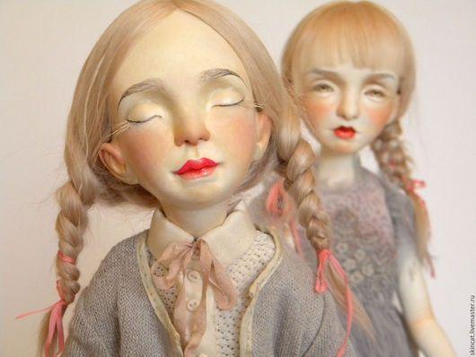 Коллекционные куклы ручной работы. Ярмарка Мастеров - ручная работа. Купить Сестры. Handmade. Бледно-розовый, съемная одежда, близнецы