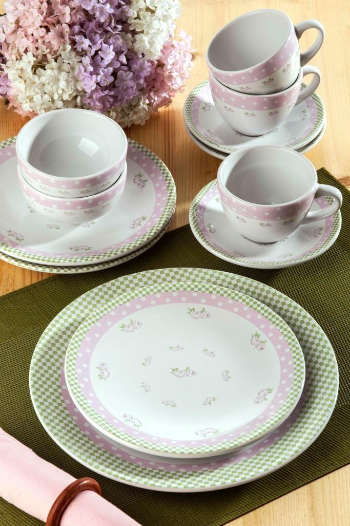 Keramika  Ege 22 Parça Beş Çayı Seti : 66,90 TL   evmanya.com