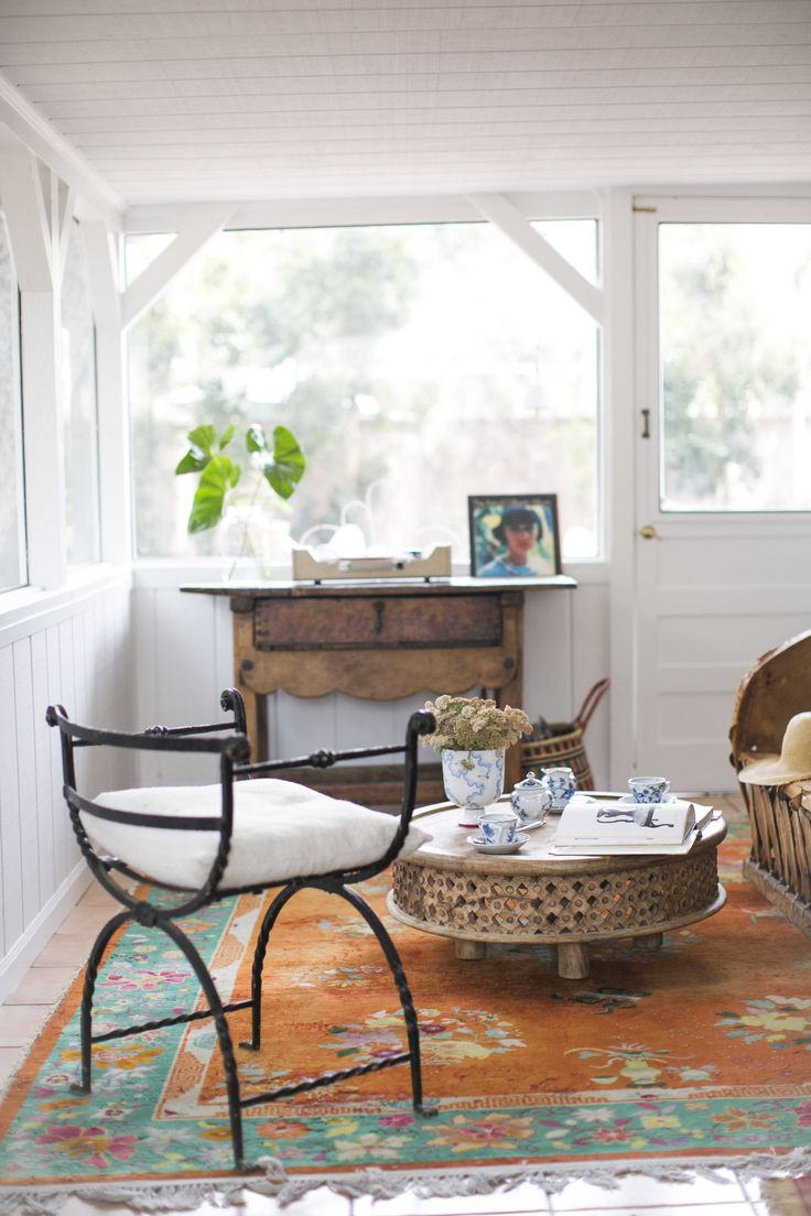 Back Porch of The Oh Hi House. Design by S Farris and Co. Ojai, CA