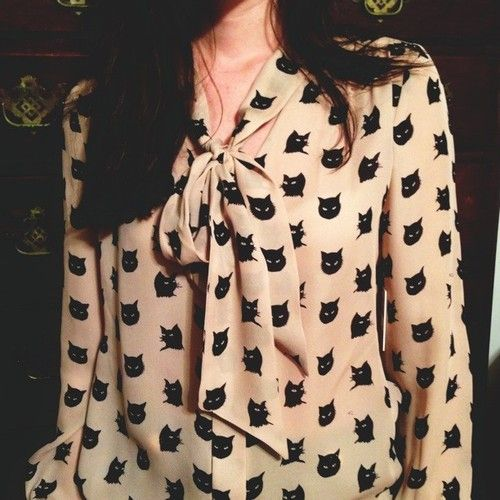 cat lady blouse