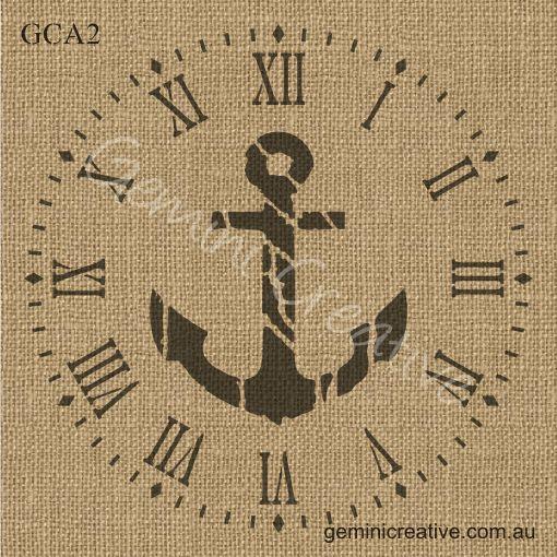 Anchor Clock Stencil