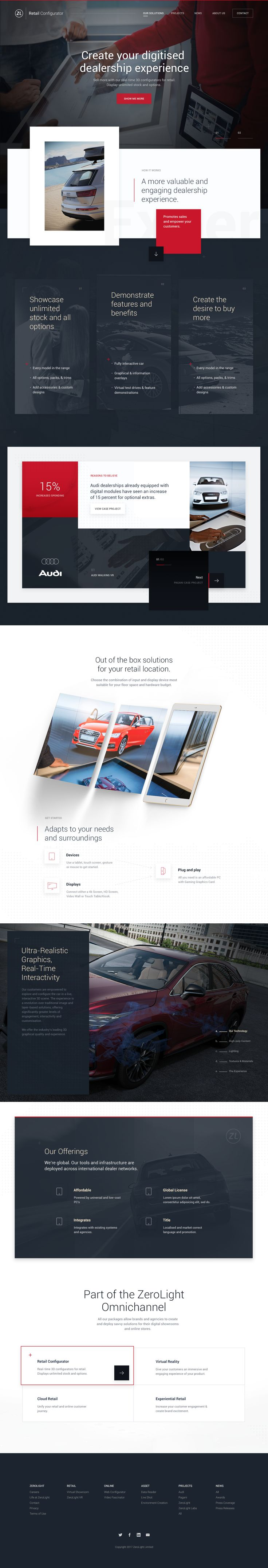 Zerolight concept retail