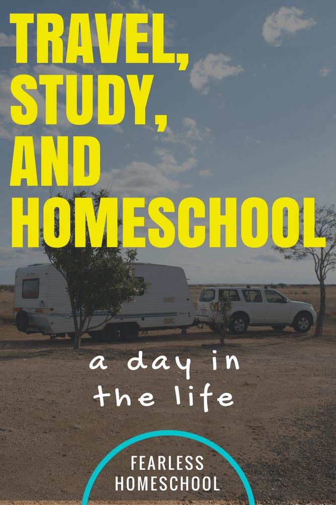 Travel, study and homeschooling-a day in the life from Fearless Homeschool