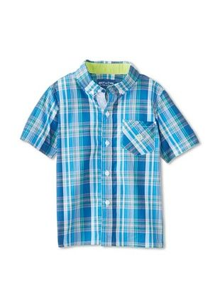 59% OFF Andy & Evan Boy's 2-7 Nothing Else Madres Big Boy Button-Up (Blue)