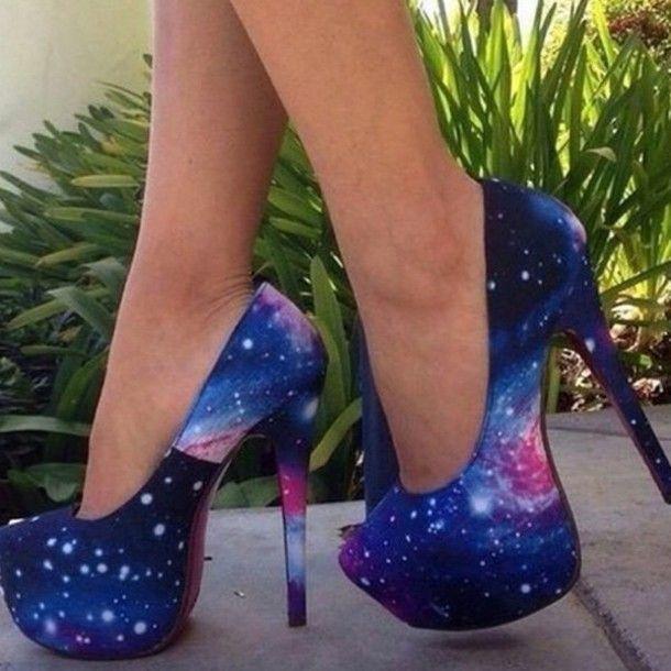 skor galax klackar höga klackar klackar blå höga klackar lila skor vita höga klackar ljusblå mörkblå sommarskor