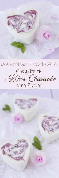 Gesundes Kokos Cheesecake Eis ohne Zucker - Healthy coconut Cheesecake Ice cream without sugar