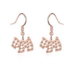 AT4796 - Aksesoris Anting Crystal Anjing