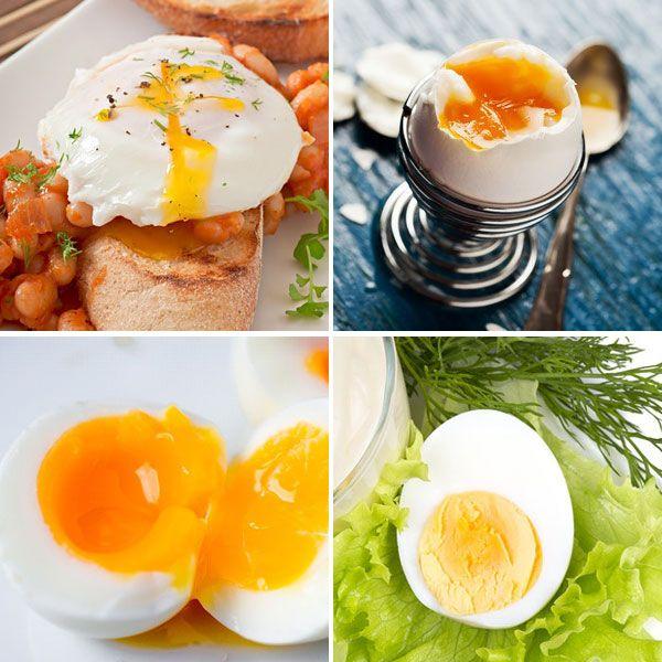 Aquí tienes algunos trucos y consejos para conocer los grados de cocción de los huevos: pasados por agua, mollet, escalfados, duros...