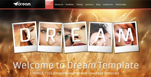 Dream Html5 One Page Responsive Template