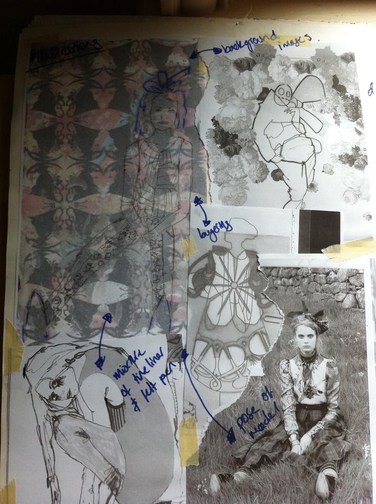 Fashion Sketchbook - print pattern development - the creative fashion design…