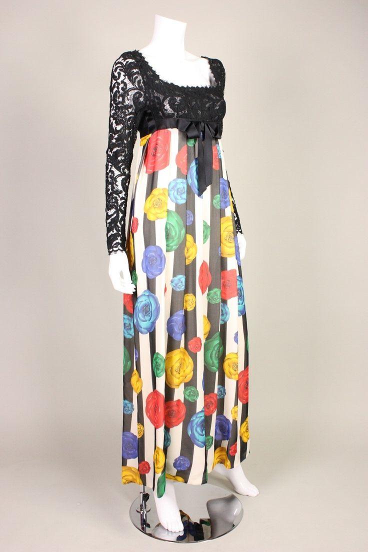 1990 Карл Лагерфельд для Chanel империи платье изображение 2