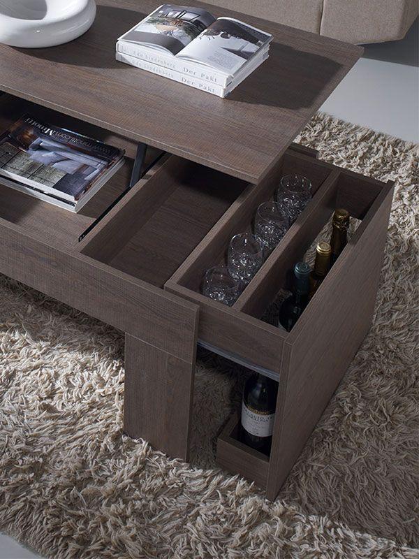 Meuble Table De Salon Transformable Contemporaine Mausaris