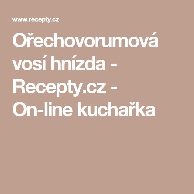 Ořechovorumová vosí hnízda - Recepty.cz - On-line kuchařka