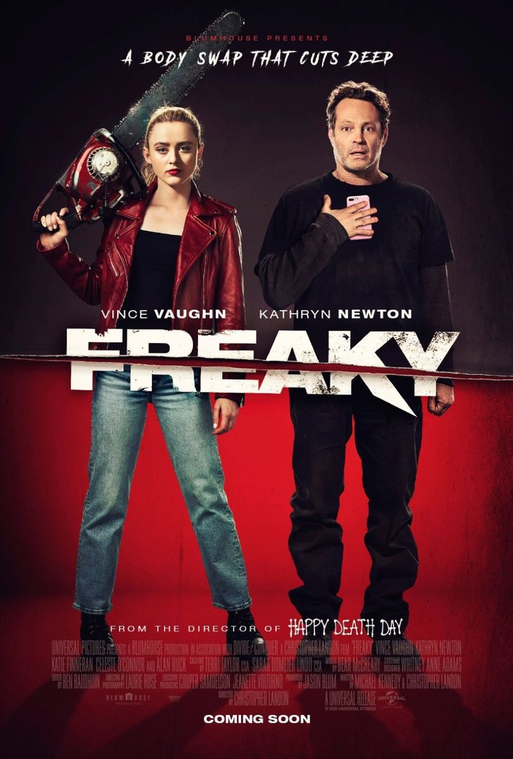 Return To The Main Poster Page For Freaky 3 Of 3 Vince Vaughn Cosas Extranas Kathryn Newton