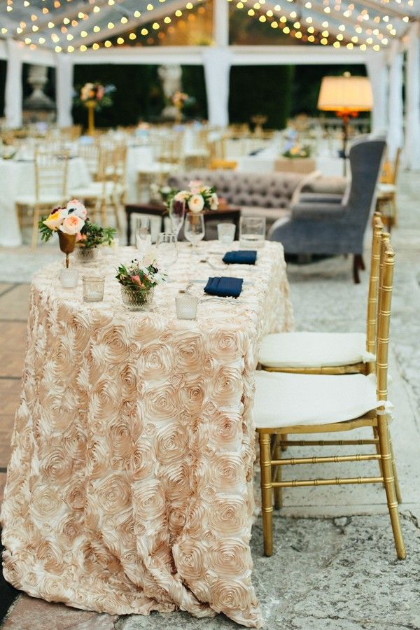 Textured creamy table cloth for a dreamy, romantic mood   Image by Becca Borge