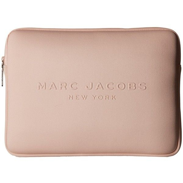 Marc Jacobs Neoprene Tech 13 Computer Case (Pale Blush) Computer Bags (280.710 COP) ❤ liked on Polyvore featuring accessories, tech accessories, neoprene laptop case, marc jacobs, marc jacobs laptop case and laptop case