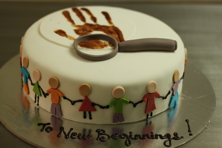 To new beginnings retirement cake for a kindergarten teacher who is