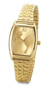 Women's Goldtone Inspirational 'Footprints' Watch with Expansion Band Ewatchfactory. $9.99