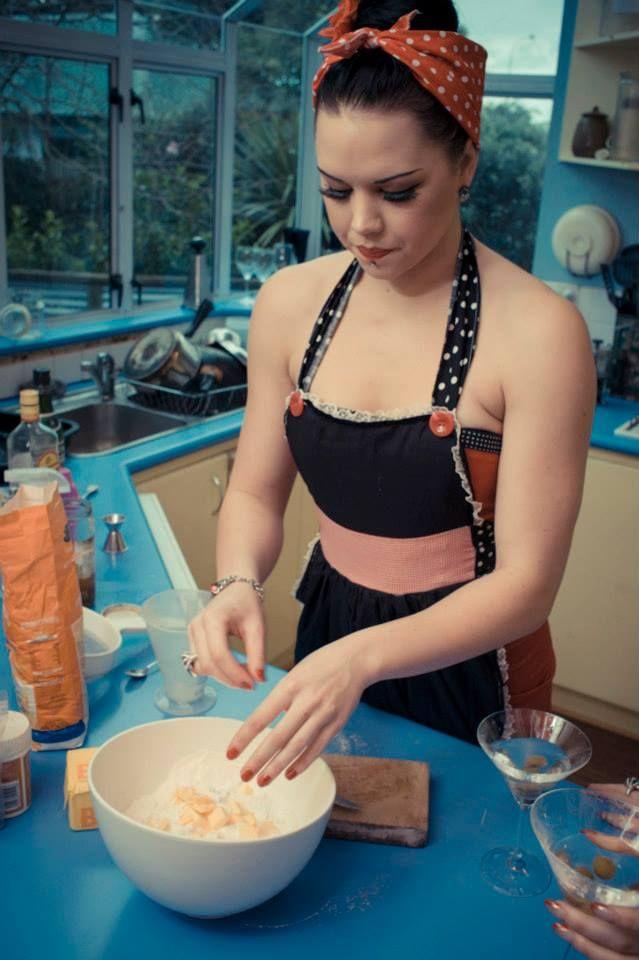 Making scones. Jocelen Janon Photography.