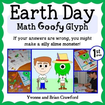 Earth Day Math Goofy Glyph for 1st grade