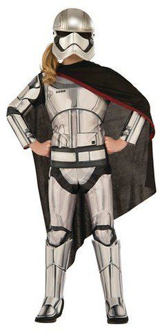 Pin for Later: 169 Warm Halloween Costume Ideas That Won't Leave Your Kids Freezing Star Wars Girls' Captain Phasma Costume Star Wars Girls' Captain Phasma Costume ($30)