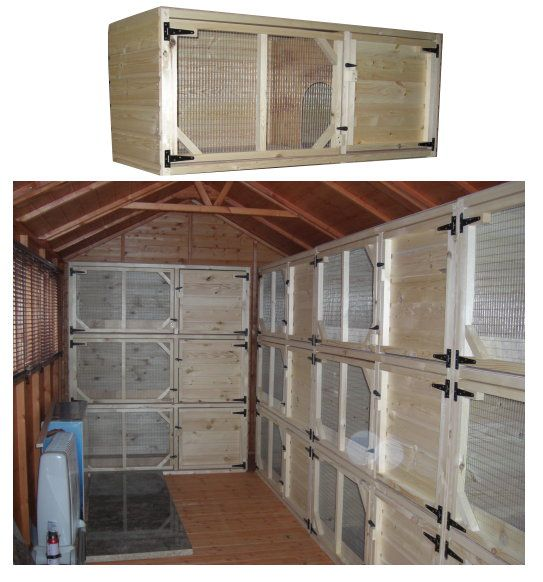 Rabbit Hutches to put inside the goat barn
