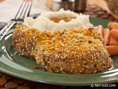 Cheesy Baked Pork Chops   mrfood.com