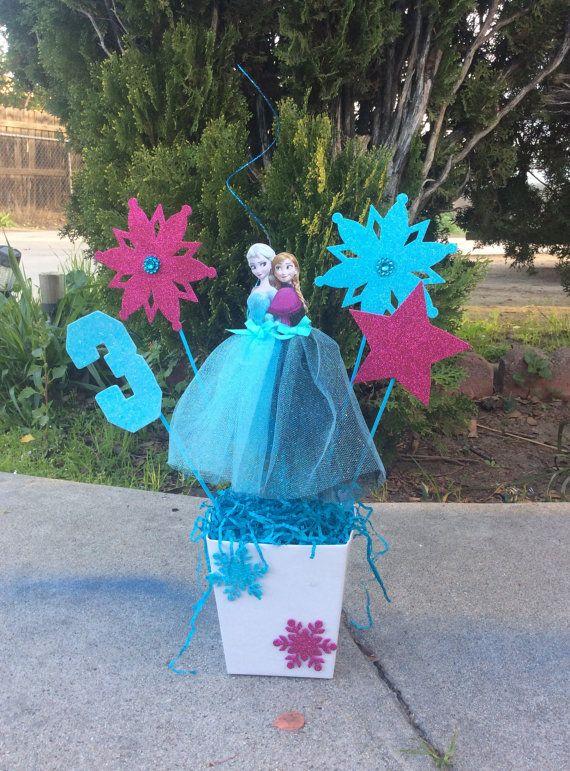 Disney Frozen Princesses Elsa and Anna Birthday CenterPiece