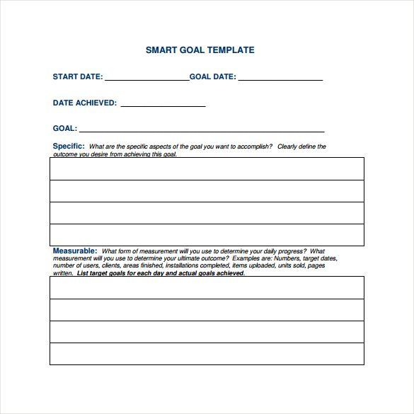 Sample PDF Smart Goal Template