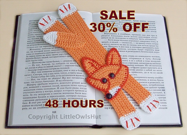 Ravelry: Fox Bookmark pattern by Little Owls Hut