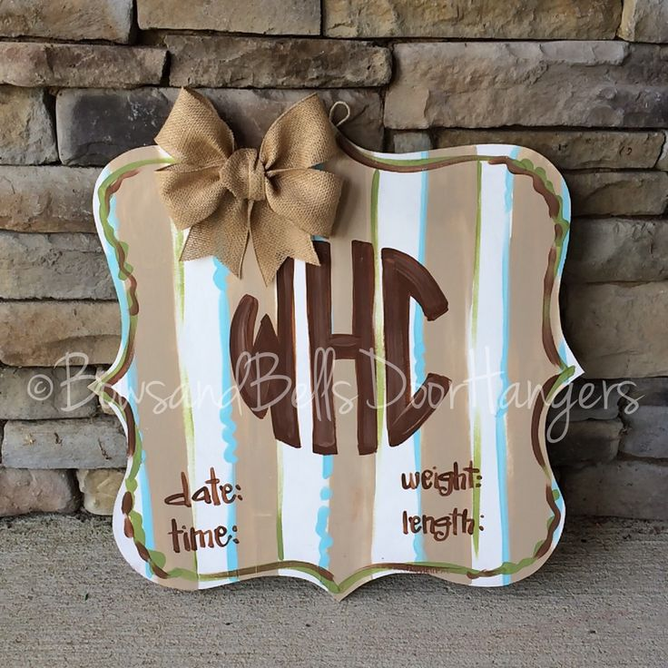 Hospital Door Hanger, Baby Door Decoration, Baby Gift, baby shower , hospital baby sign, boy hospital hanger, football themed baby hanger by BowsandBellsHangers on Etsy https://www.etsy.com/listing/240108189/hospital-door-hanger-baby-door