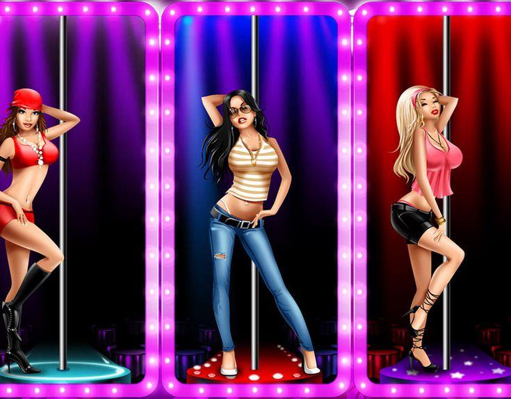 Street show striptease game