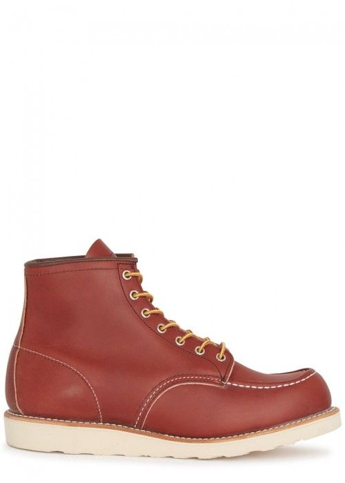 RED WING SHOES BRICK RED LEATHER BOOTS. #redwingshoes #shoes #