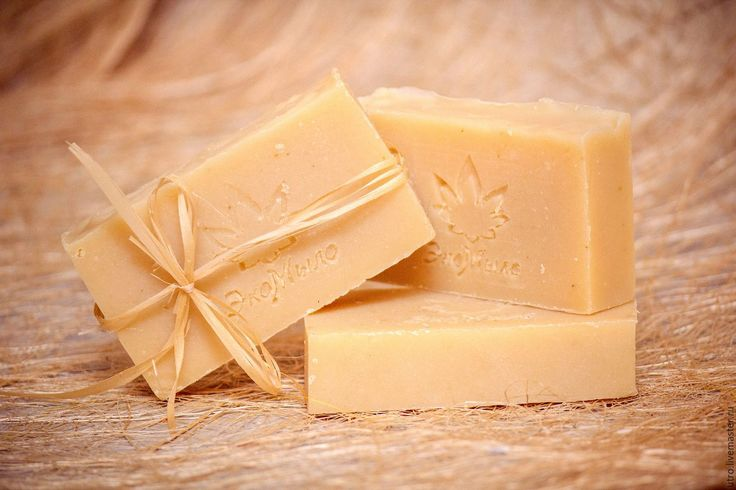 Купить Молочное детское мыло с маслом лаванды. - бежевый, детское мыло, лавандовое мыло