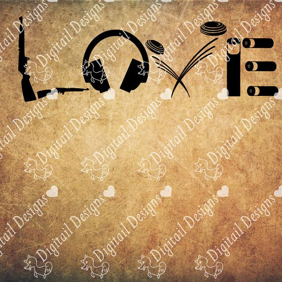 Trap Shooting Love Svg Png Dxf Eps Fcm Cut file by DigitailDesigns