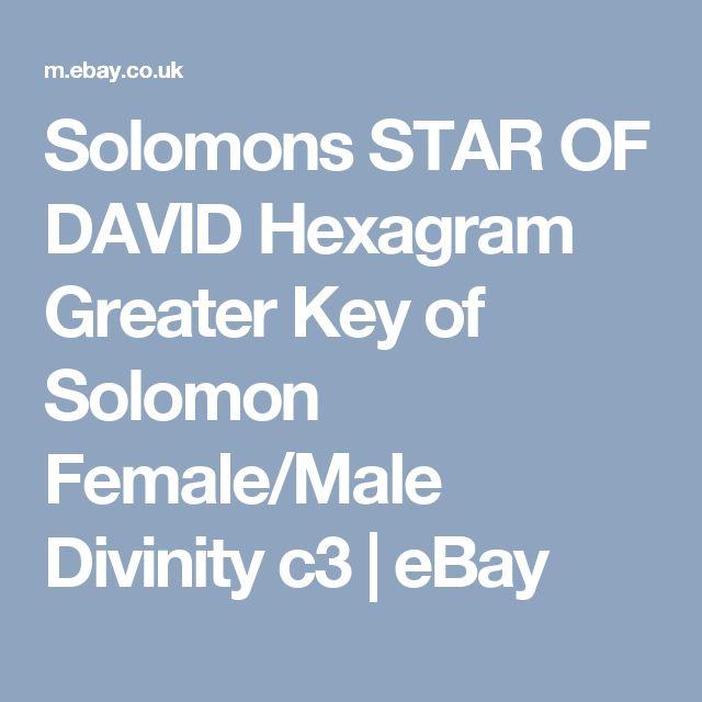 Solomons STAR OF DAVID Hexagram Greater Key of Solomon Female/Male Divinity c3   eBay