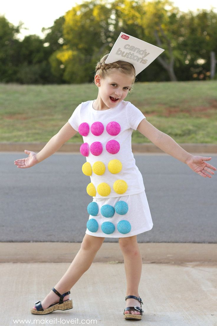 "Make a ""Retro CANDY BUTTON"" Costume...for Halloween!! 