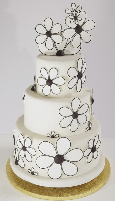 79 best wedding cakes images on pinterest cake wedding bakeries blackwhite flower power by alliance bakery via flickr mightylinksfo