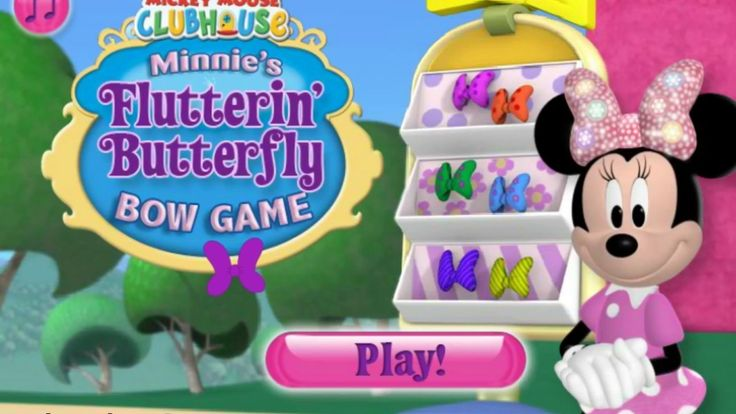 Mickey Mouse Clubhouse - Minnie's Flutterin' Butterfly Bow Game - Video ...